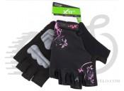 Перчатки X17 XGL-677PI гелевые, женские, розово-черные, L