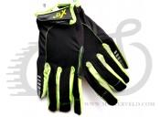 Перчатки X17 XGL-745GR закрытые, зелено-черные, L