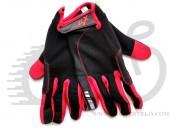 Перчатки X17 XGL-745RD закрытые, красно-черные, M