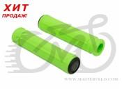 Грипсы Author AGR SILICONE, длинна 130 mm, неоново зелёные 33402012