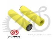Ручки для велосипедного керма Author AGR SILICONE Elite l.130mm, колір: неоново жовті 33402031