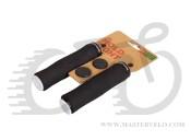 Грипсы Green Cycle GC-G224 130mm вспененная резина, эргономичные, черные с одним черным замком