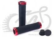 Грипсы Velo 201 130mm черный с двумя красными замками