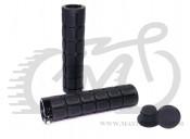 Грипсы Velo 219 130mm вспененная резина, с одним замком черные