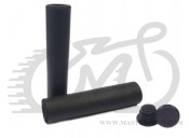 Грипсы Velo 001 130mm вспененный силикон, черные