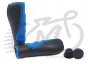 Грипсы Velo 301 130mm эргономичные, черно-синие