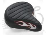 Седло Electra RatRod на пружинах черно / красное