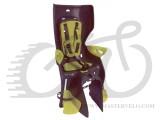 Сиденье заднее BELLELLI Summer Clamp темно-серый/салатовая подкладка (HI Vision) SAD-76-09