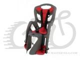 Сиденье заднее BELLELLI B1 clamp серый с красным, на багажник до 22кг SAD-25-65