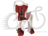 Сиденье заднее Bellelli Mr Fox Сlamp (на багажник) до 22кг, белое с красной подкладкой