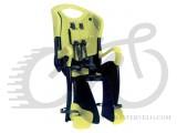 Велокресло заднее Bellelli TIGER Standart B-Fix до 22кг, чёрно-салатовое с салатовой подкладкой (HI Vision)