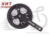 Комплект шатунов PROWHEEL Burner-101P, 42/34/24T, 175mm, black