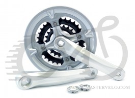 Шатуны PROWHEEL MC-A126 42/32/22T 170mm серебр.