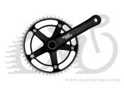 "Шатуны Sturmey Archer FCT66 46T, для фикс. под квадрат, 170mm, 1/2""*1/8"" черн."