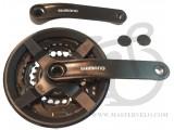 Шатуны Shimano FC-TY301 TX 48/38/28, 8/7/6ск., 170мм,, с защитой, черные