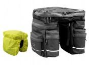 Сумка на багажник  Longus TRIPLE +непромокаемый чехол, черн