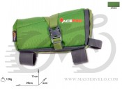 Сумка на раму Acepac ROLL FUEL BAG M зеленая, BIB-41-03