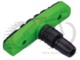 Колодки тормозные резьбовые ALHONGA HJ EN02-GR зелено-черные BRS-70-75