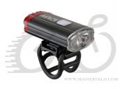 Ліхтар передній Author A-DoubleShot 250/12 lm USB с заднім червоним світлом 12002705