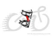 Фляготримач ELITE PRISM L ліва сторона, чорний/червоний  0181002