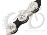 Цепь инд. 114 зв. 1/2x11/128 KMC X10-1, NPBK silver/black