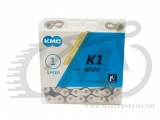 "Цепь КМС K1 WIDE К710 ВМХ 1/2x1/8"", 112 звеньев, silver/black, замок"