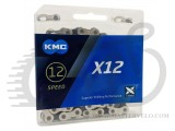 Цепь KMC X12 с замком, 116 звеньев, 11 звезд  silver/black