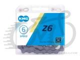 Цепь KMC Z6, 116 звеньев, 1/2x3/32 с замком, 6 звезд, Gray