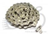 Цепь KMC Z610HX BMX узкая silver 112зв. 1/2x3/32, замок