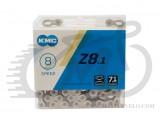 Цепь KMC Z8.1 (Z8) 7.1mm, 116 звеньев, silver/grey, 8speed, замок