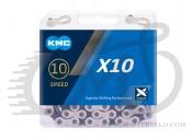 Цепь велосипедная KMC X10 с замком, 116 звеньев, 10 звезд