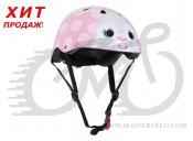 Шлем детский Kiddimoto Bunny, размер M 53-58cm