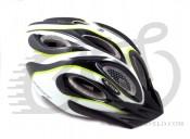 Шлем AUTHOR Skiff 141 черный/белый/зеленый,  52-58 cm