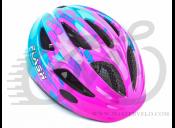 Шлем AUTHOR Flash с мигалкою, (162 pink/blue) 51-55cm0131