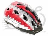 Шлем AUTHOR Trigger 153, серо/бело/красный, 54-58 cm 006