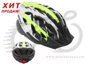 Шлем AUTHOR Wind LED 144 неоново-желтый/белый, размер 54-58 cm 9001128
