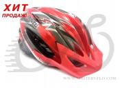 Шлем ProWheel F38 разм. 56-62 (M), красно-серый