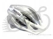 Шлем ProWheel F44R разм. 54-58 (M), бело-серебристый
