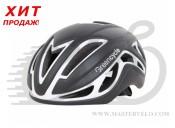 Шлем Green Cycle Jet размер L для шоссе/триатлона и гонок с раздельным стартом черно-белый матовый