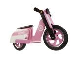 "Беговел 12"" Kiddi Moto Scooter деревянный, розово-белый"