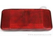 Отражатель X17 задний, большой, 11.5*5.0см красный