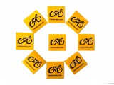 Наклейка светоотражающая 4х4см с логотипом