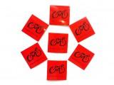 Наклейка светоотражающая 4х4см с логотипом красная